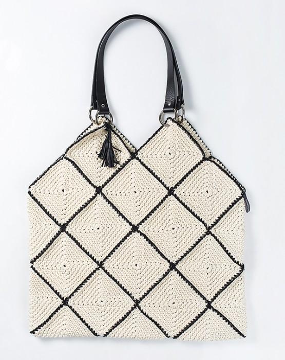 GRANNY SQUARE CROCHET BAG XL