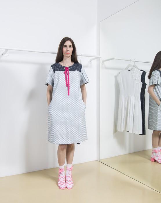 SILVER A - LINE  DRESS